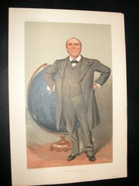 Vanity Fair Print 1905 Robert Ball, Astronomy, Globe, Teacher